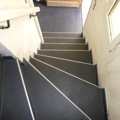 Escalier avec carreaux de 60x120
